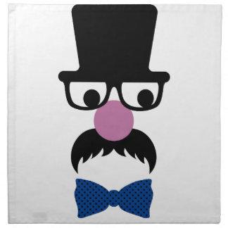 Hombre de moda retro del bigote servilletas imprimidas