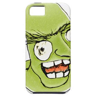 Hombre de monstruo enojado con la expresión iPhone 5 carcasa