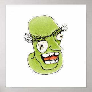 Hombre de monstruo enojado con la expresión póster