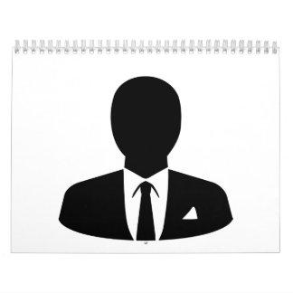 Hombre de negocios calendarios de pared
