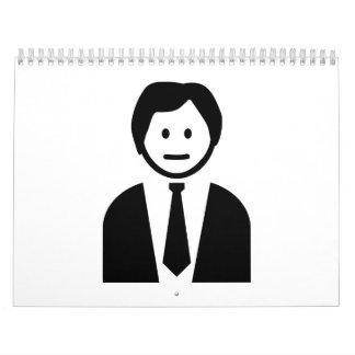 Hombre de negocios con el lazo calendarios