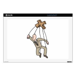 Hombre de negocios de la secuencia de la marioneta calcomanías para portátiles