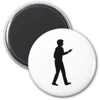 Hombre de negocios de Smartphone de la célula Imán Redondo 5 Cm