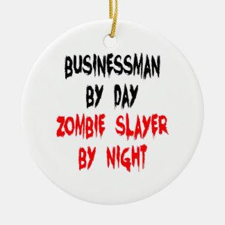 Hombre de negocios del asesino del zombi ornamento para reyes magos