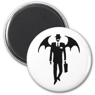 hombre de negocios del diablo imán redondo 5 cm