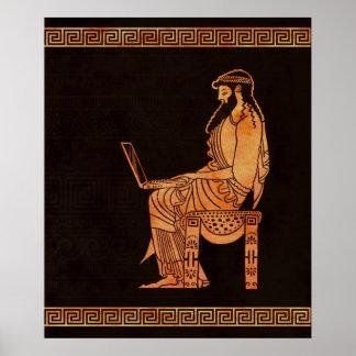 Hombre de negocios del griego clásico póster