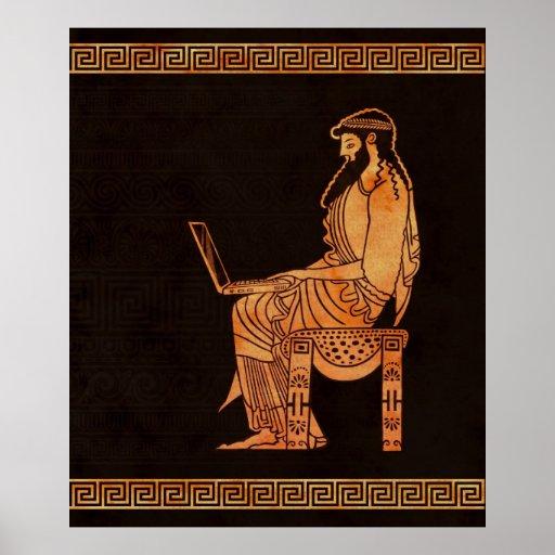 Hombre de negocios del griego clásico posters