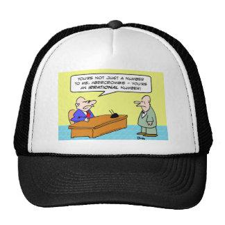 hombre de negocios del número irracional del jefe gorras