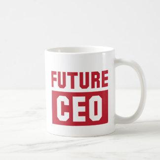 Hombre de negocios futuro del director general del taza de café
