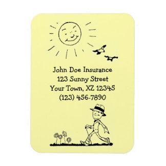 Hombre de negocios retro el día soleado imanes flexibles