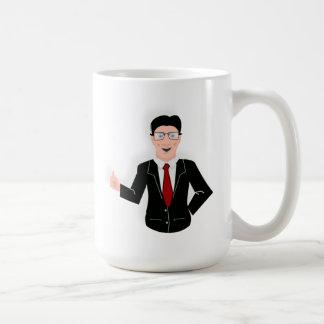 Hombre de negocios taza