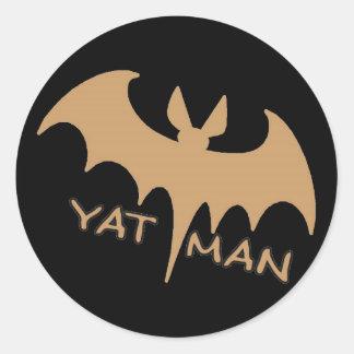 Hombre de New Orleans Yat Etiqueta Redonda