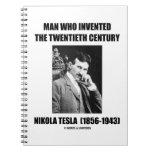 Hombre de Nikola Tesla que inventó el siglo XX Libros De Apuntes Con Espiral
