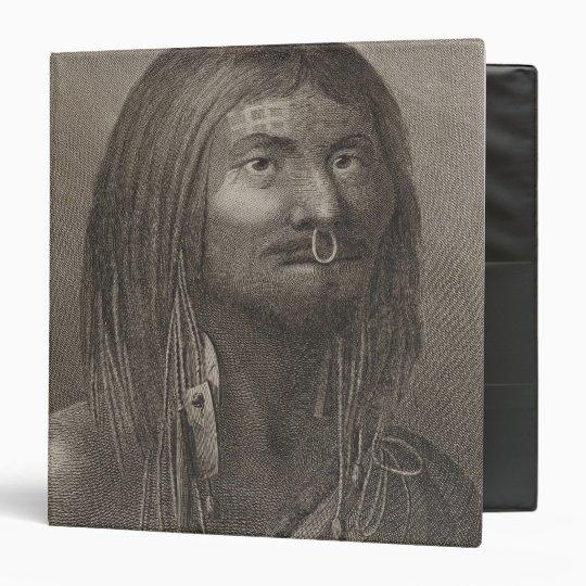 """Hombre de Nootka, Columbia Británica Carpeta 1 1/2"""""""