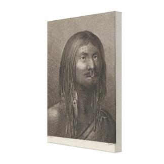 Hombre de Nootka, Columbia Británica Lienzo Envuelto Para Galerías