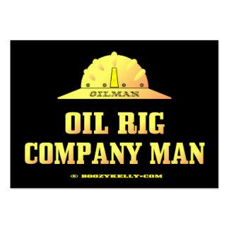 Hombre de Oilman, Oil Rig Company, tarjetas de vis Tarjeta De Visita