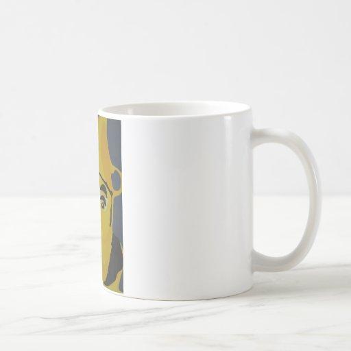 Hombre de oro de la lata tazas de café