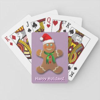 Hombre de pan de jengibre adaptable baraja de cartas