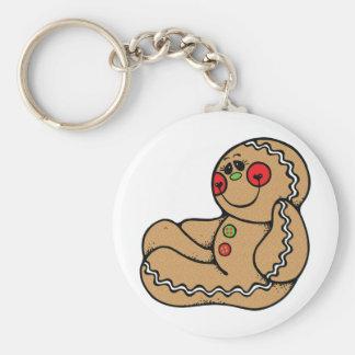 hombre de pan de jengibre adorable llaveros personalizados