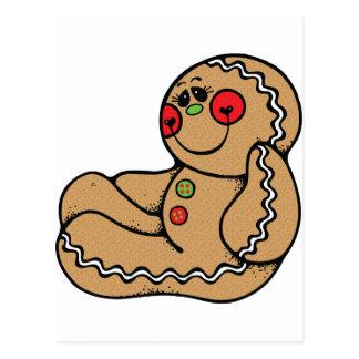 hombre de pan de jengibre adorable tarjetas postales