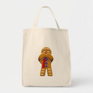 Hombre de pan de jengibre - asustado - colores ori bolsa