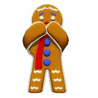 Hombre de pan de jengibre - asustado - colores ori esculturas fotográficas