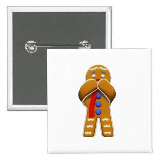 Hombre de pan de jengibre - asustado - colores ori pins