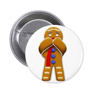 Hombre de pan de jengibre - asustado - colores ori pin