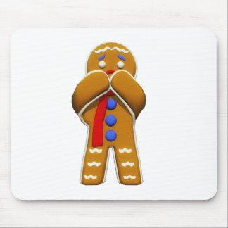 Hombre de pan de jengibre - asustado - colores ori tapete de raton