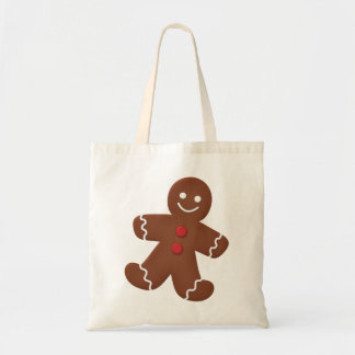Hombre de pan de jengibre bolsas lienzo