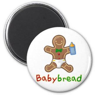 Hombre de pan de jengibre de Babybread Imán Redondo 5 Cm