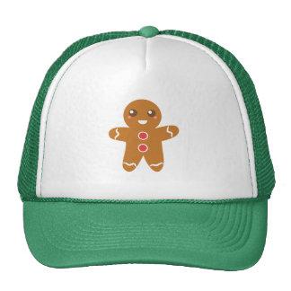 Hombre de pan de jengibre de las Navidad lindas y  Gorras