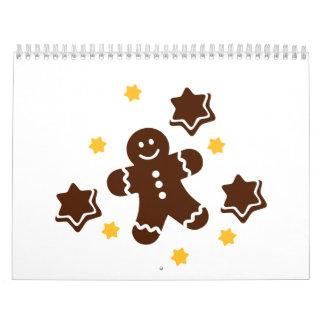 Hombre de pan de jengibre de Lebkuchen Calendarios De Pared