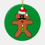 hombre de pan de jengibre del bigote ornaments para arbol de navidad