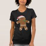 Hombre de pan de jengibre del navidad camiseta