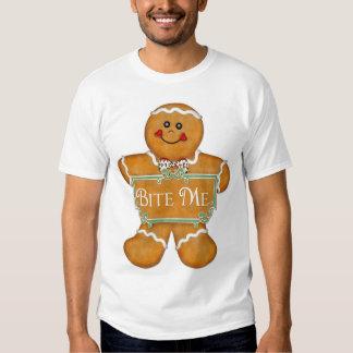 Hombre de pan de jengibre del navidad - muérdame polera