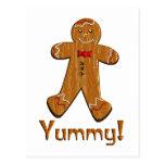 Hombre de pan de jengibre delicioso postales
