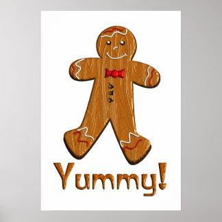 Hombre de pan de jengibre delicioso póster