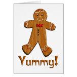 Hombre de pan de jengibre delicioso tarjeta