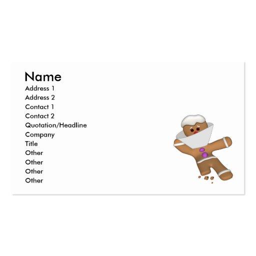 Hombre de pan de jengibre divertido del pedazo mis plantilla de tarjeta personal