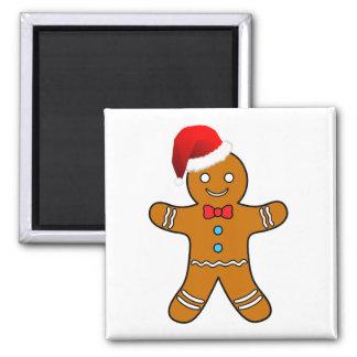 hombre de pan de jengibre en el navidad imán para frigorifico