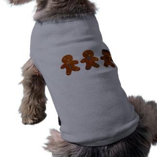 Hombre de pan de jengibre gótico playera sin mangas para perro