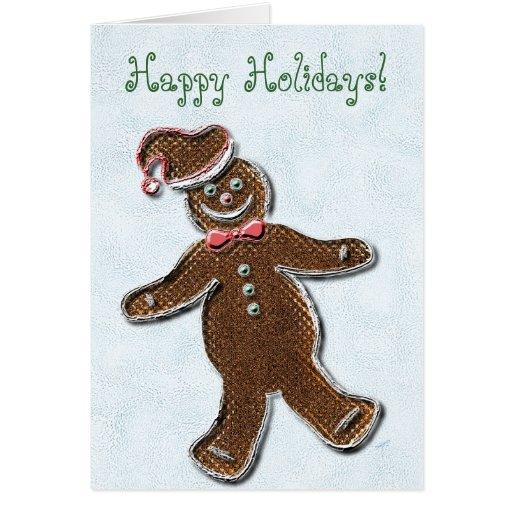 Hombre de pan de jengibre, hielo tarjeta de felicitación