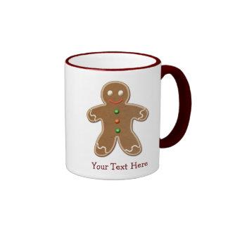 Hombre de pan de jengibre lindo personalizado del  tazas de café