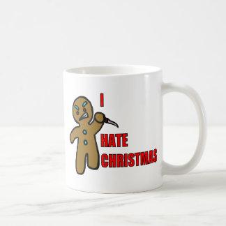 Hombre de pan de jengibre malvado taza básica blanca