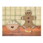 """Hombre de pan de jengibre """"Oops"""" tarjeta de la rec Tarjetas Postales"""