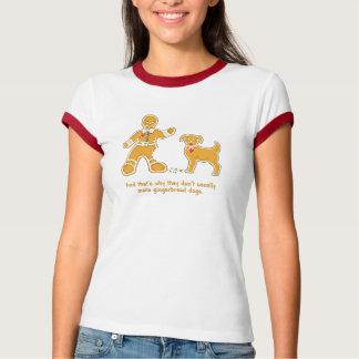 Hombre de pan de jengibre y perro divertidos para camisas