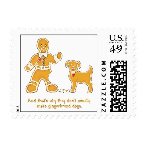 Hombre de pan de jengibre y perro divertidos para envio