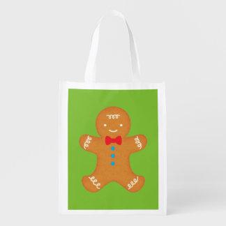Hombre de pan de jengibre bolsas de la compra