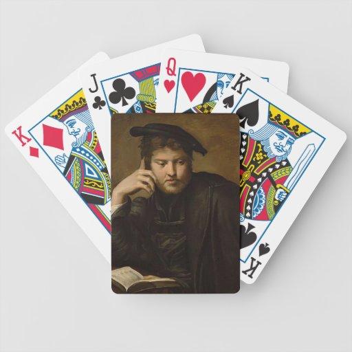 Hombre de Parmigianino- con un libro Barajas